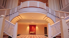 Pan shot of interior view of Hotel Amar Villas, Agra, Uttar Pradesh, India Stock Footage