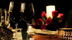 Shot of candlelight dinner at Hotel Amar Villas, Agra, Uttar Pradesh, India Stock Footage