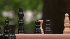 Moving chess pieces Stock Footage