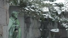 FDR memorial - stock footage