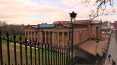 Edinburgh National Gallery of Scotland Stock Footage
