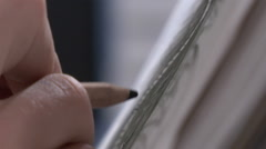 Detail of pencil drawing. shallow depth of field. Stock Footage