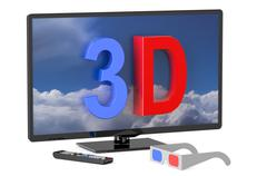 3D television and 3D glasses Stock Illustration