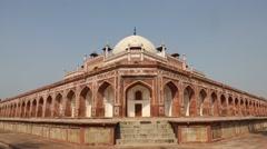 Locked-on shot of the Humayun's Tomb, Delhi, India Stock Footage