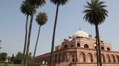 Pan shot of the Humayun's Tomb, Delhi, India Stock Footage