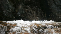 Closeup of river rapids in slow motion Stock Footage