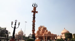 Shot of the Chhatarpur Temple, New Delhi, India Stock Footage