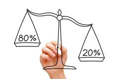 Pareto Principle Scale Concept Stock Illustration