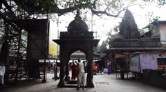 Shot of the Trimbakeshwar Shiva Temple, Nashik District, Maharashtra, India Stock Footage