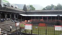 Pan shot of the Trimbakeshwar Shiva Temple, Nashik District, Maharashtra, India Stock Footage