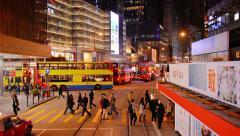 HONG KONG, CHINA - CIRCA JAN 2015: Dramatic, retreating view of a major, down Stock Footage