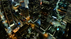 4K Time Lapse of Downtown LA Power Shut Off at Earth Hour 2015 -Tilt Up- Stock Footage