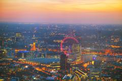 Aerial overview of London - stock photo