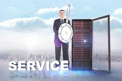 Stock Illustration of Composite image of corporate warrior
