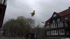 4k Walpurgis tradition witches deco Braunlage village Stock Footage