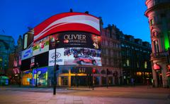 Piccadilly Circus junction in London - stock photo