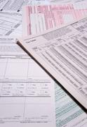 Income Tax Forms - stock photo