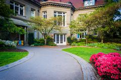 The Pittock Mansion at Pittock Acres Park, in Portland, Oregon. - stock photo