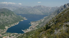 Time lapse from Kotor bay Montenegro - stock footage