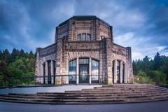 The Vista House, in the Columbia River Gorge, Oregon. Stock Photos