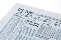 Stock Market News - stock photo