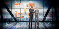 Stock Illustration of Composite image of confident business team