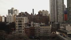 Aerial shot of Manhattan midtown buildings Stock Footage
