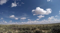 Time lapse of beautiful cumulus clouds  in the western United States Stock Footage