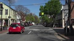 Fredericksburg Virginia historic downtown drive POV fast 4K Stock Footage