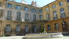 Fountain in Aix_en-Provence Stock Footage