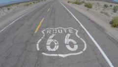 Route 66 Sign California Stock Footage
