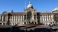 Birmingham victoria square Stock Footage