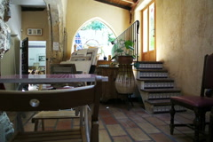 Empty traditional Spanish cafe Stock Footage