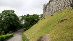 Park area the old Portuguese Guia Fortress, Macao Stock Footage