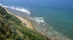 Palos Verdes beach from cliffside Stock Footage