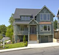 Stock Photo of New house for sale Portland Oregon.