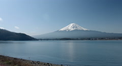 Morning Mt.Fuji lakeside, 4k color graded (4000x2160) Stock Footage