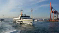 SHs Ferry Sariyer sails to Kadikoy - stock footage