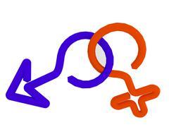 Two gender symbols Stock Illustration