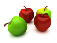 Four apples Stock Illustration