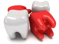 Aching and healthy teeth Piirros