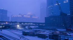 Chicago Railyard with Overpass #2 Stock Footage