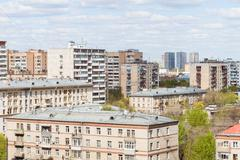 city living quarter in sunny day - stock photo