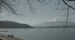 Mt.Fuji before spring, 4k  non color graded (4000x2160) Stock Footage