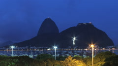 Time lapse - Sugar Loaf and Botafogo Bay in Rio de Janeiro, Brazil – Sunset Stock Footage