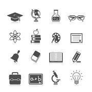 Education Icon Set Stock Illustration