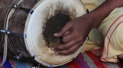 Video 1920x1080  Drums hands, movement, rhythm. Rishikesh. India. - stock footage