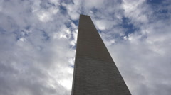 Washington DC Washington Monument clouds 4K 062 Stock Footage