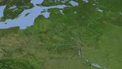 Belarus on maps - Do It Yourself as you like. Neighbourhood Stock Footage