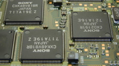 The chips of the the electronic board Stock Footage